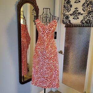 Lulu's orange animal print dress
